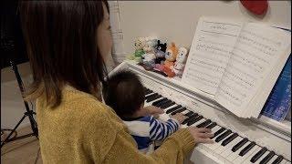 【ピアノ】ポンスと一緒にXmasメドレー演奏したよ♡