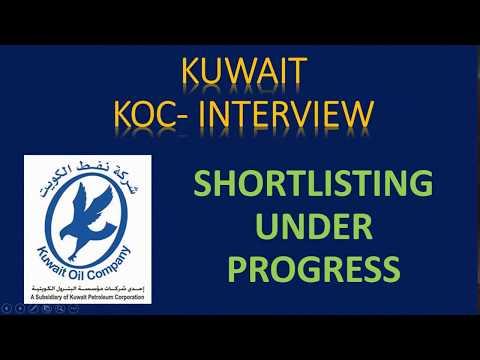 KOC - NORTH KUWAIT MAINTENANCE PROJECT- CLIENT INTERVIEW