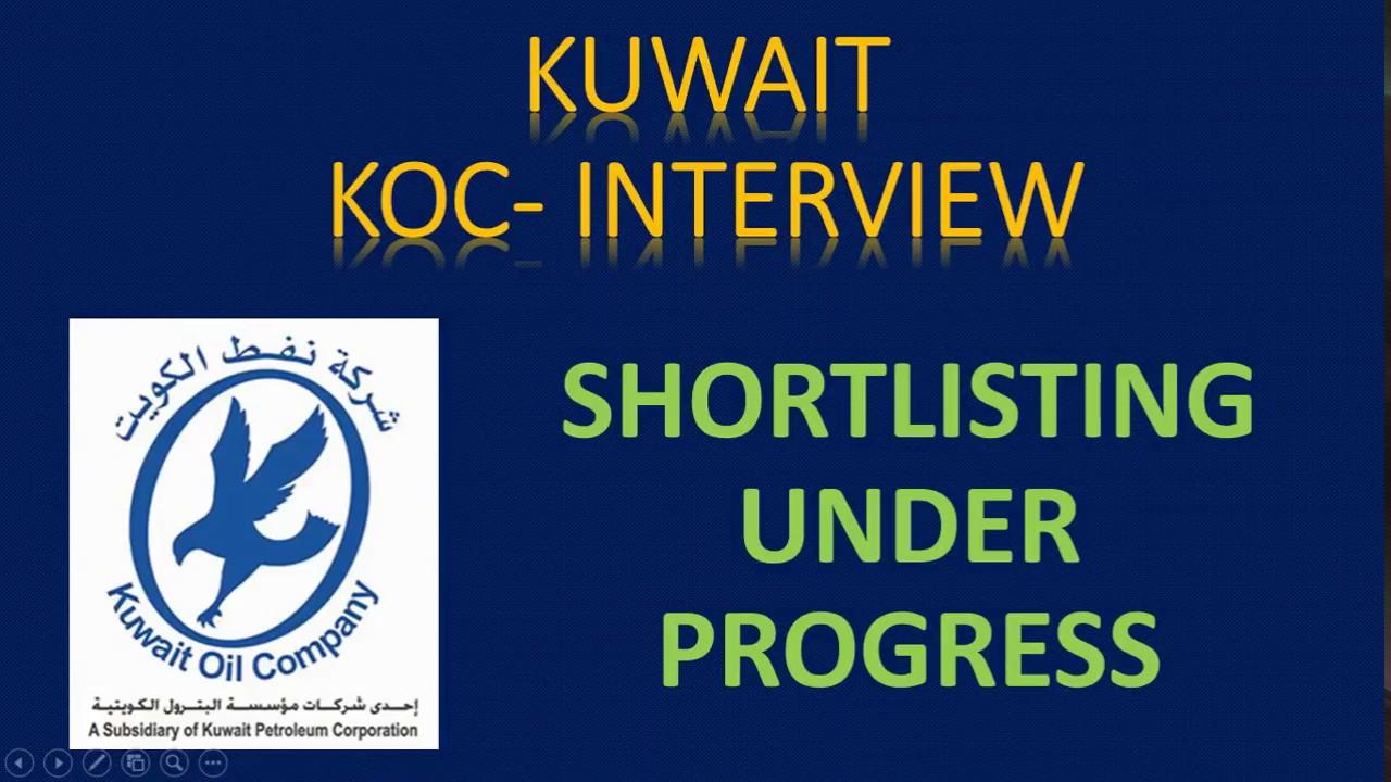 Koc Maintenance Project Kuwait 2019