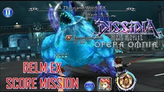 Dissidia Final Fantasy Opera Omnia- A Thousand Words EX Score Mission