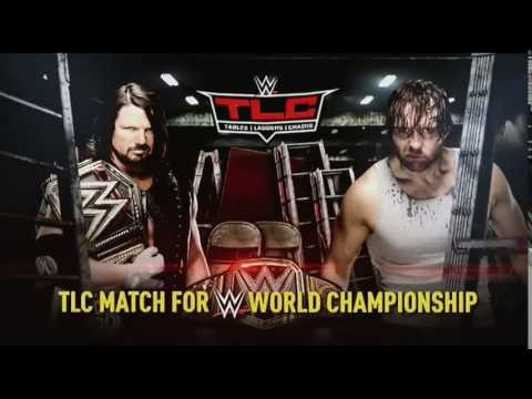 WWE TLC 2016 AJ Styles vs Dean Ambrose Official Match Card With New Graphics