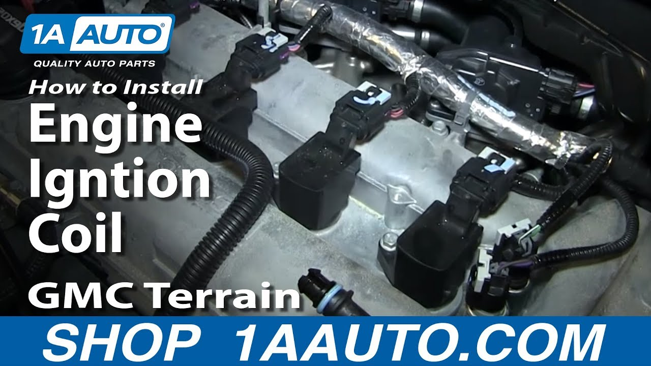 How To Install Replace Engine Igntion Coil GMC Terrain 2.4L - YouTube
