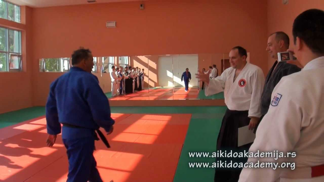 Aikido delegation from Kazakhstan in Belgrade