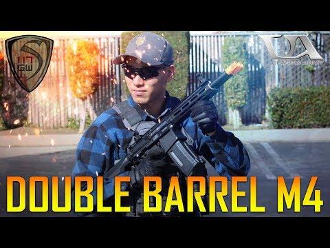 DOUBLE BARREL M4 AEG CLASSIC ARMY DT4- SPARTAN117GW