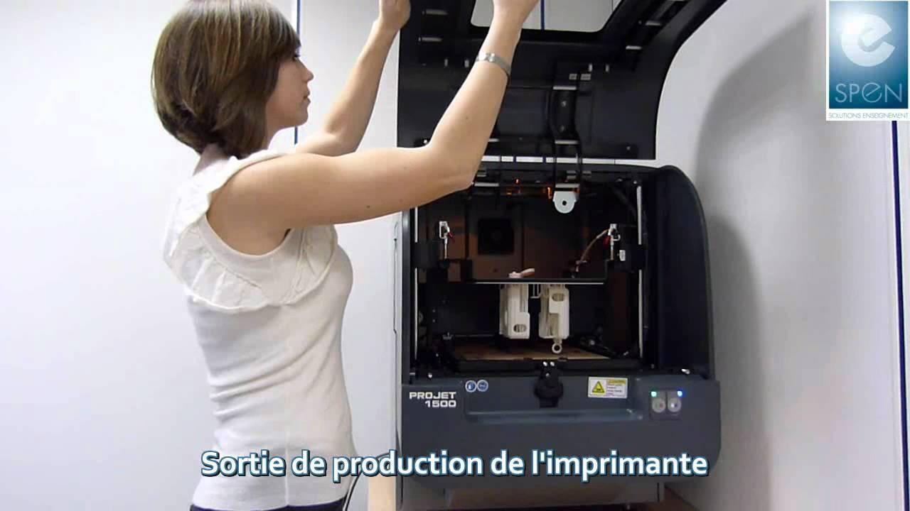 imprimante 3d impression 3d projet 1000 1500 3d systems spen youtube. Black Bedroom Furniture Sets. Home Design Ideas