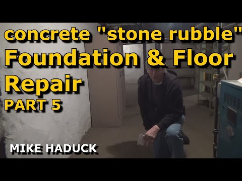 Stone foundation repair (& floor) part 5 of 6 (Mike Haduck)