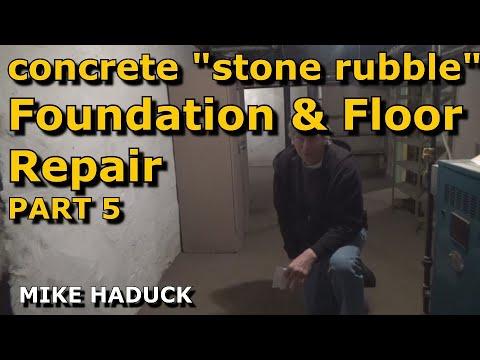 Stone foundation repair (& floor) part 5 of 6 (Mike Haduck)