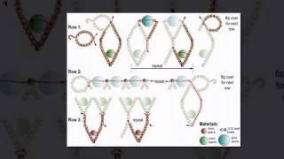 Уроки бисероплетения.Ожерелье из бисера. Техника сетка.