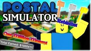 ROBLOX POSTAL SIMULATOR! REBIRTHS 1 A 3 + 1 MILLONES DE DINERO GANADO!