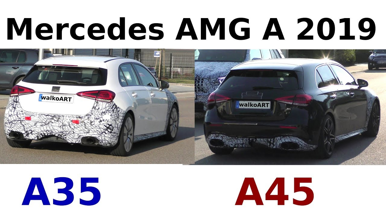 Mercedes Erlkonig 2019 Amg A35 A40 A45 A50 W177 Prototypes 4k Spy Video