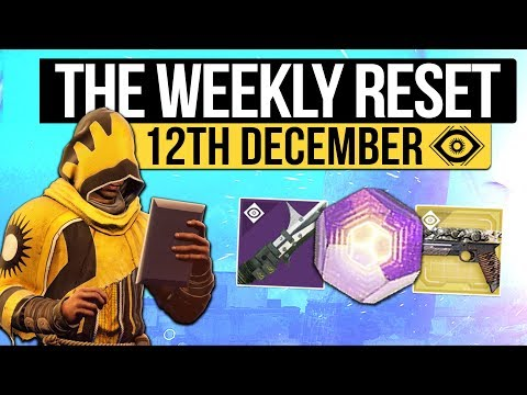 Destiny 2 | WEEKLY RESET! - Weapon Verses, Masterworks, Nightfall & Vendor Reset! (12th December)