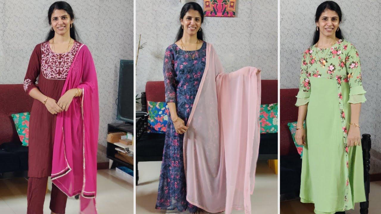செம்ம Birthday dress🎂😜 Affordable Anarkalis collections   Daily wear kurtas   Twins vegkitchen