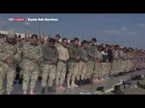 Zeytin Dalı Harekatı'na katılacak güvenlik güçleri Cuma Namazı'nda