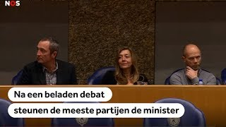Michael P: Kamer houdt vertrouwen in Dekker na beladen debat over zaak Anne Faber
