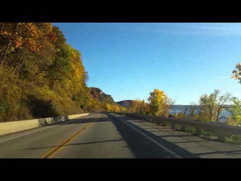 Wisconsin's Great River Road; fall colors & bluffs on the Mississippi south of La Crosse
