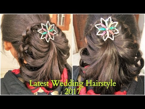 simple-hairstyle-for-wedding-|-medium-&-long-hair-bridal-hairstyle-(-2017-)