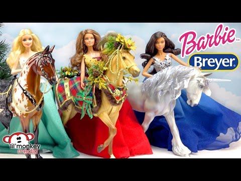2016 Holiday Barbie Collection, Breyer Woodland Splendor & 2 Breyer Spirit Of The Horse!