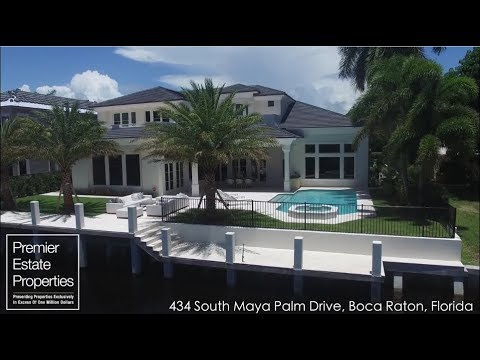Boca Raton Real Estate - Waterfront Mansion Boca Raton - 434 South Maya Palm Drive, Boca Raton, FL