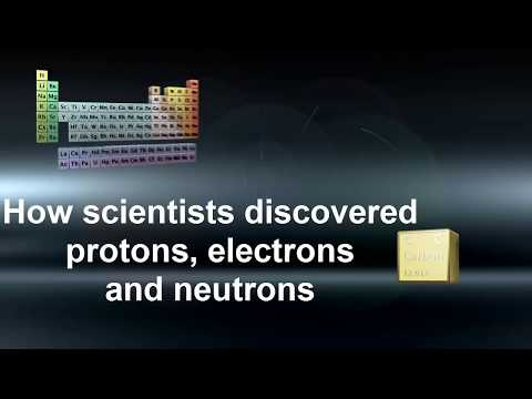 How protons, electrons and neutrons were discovered.