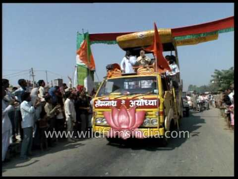 Bjp rath yatra in ayodhya with lk advani leading the show youtube bjp rath yatra in ayodhya with lk advani leading the show thecheapjerseys Choice Image