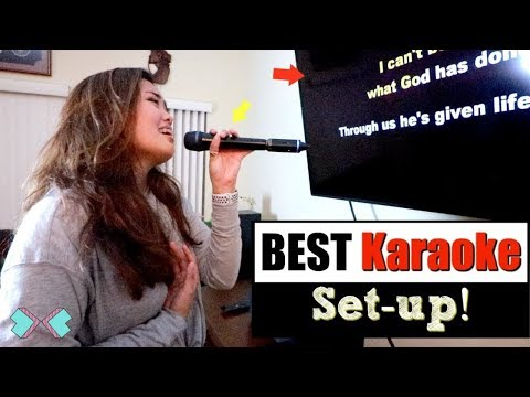 THE BEST KARAOKE SET UP FOR SINGERS!!