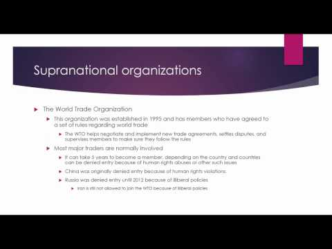 Unit 3 Lesson 1 EU  Supranational Organizations