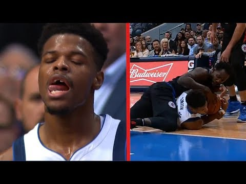 Pat Beverly Knocks Dennis Smith Jr's Teeth Out - Clippers vs Mavericks | December 2, 2018