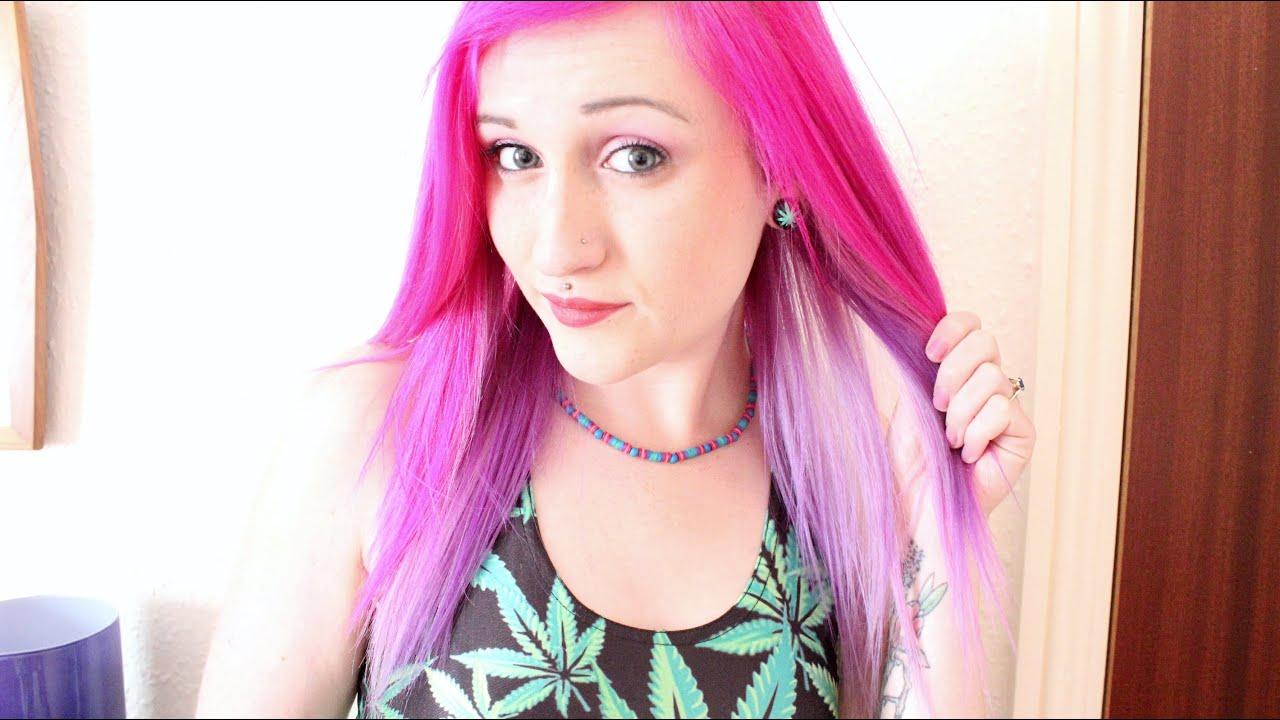 Magenta Purple Haze 3 Tone Hair Dye Tutorial Youtube