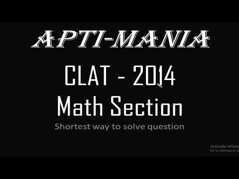 CLAT 2014 Actual paper Maths Section