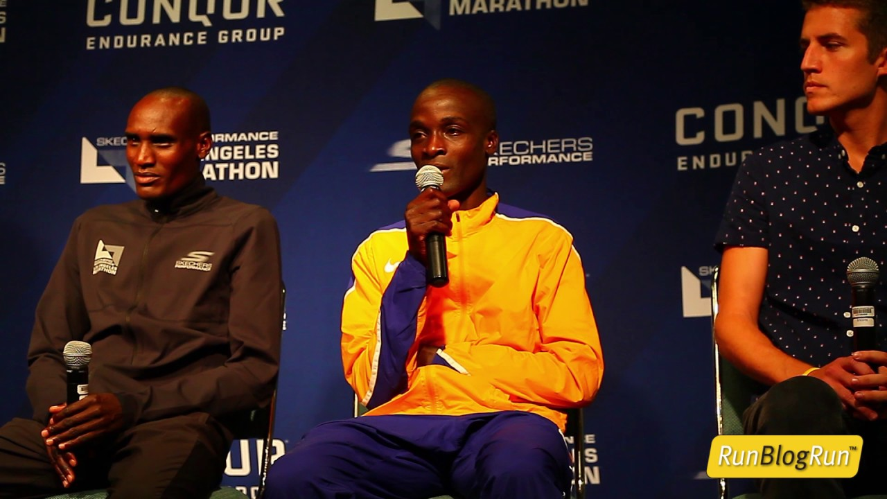 LA Marathon Press Conference Part 3 - Men's Elite Athletes