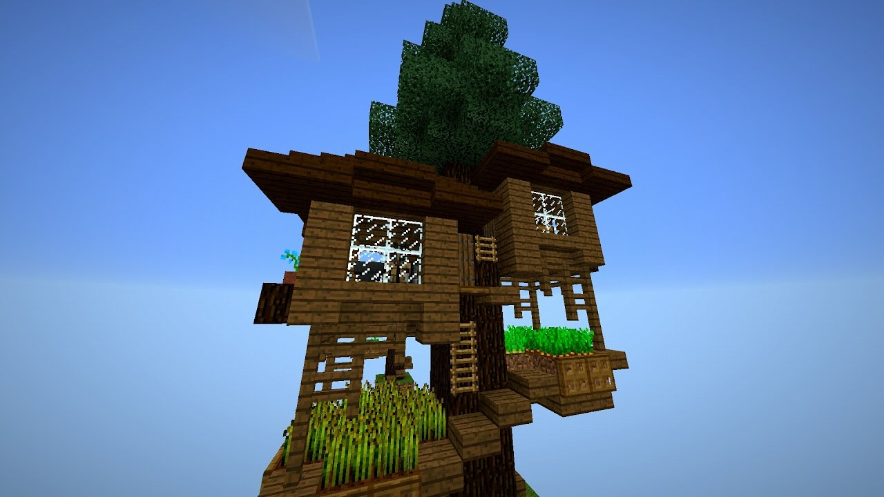 майнкрафт дом на дереве #10