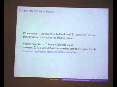 "Bas Spitters: ""The space of measurement outcomes as a spectrum for non-commutative algebras"""