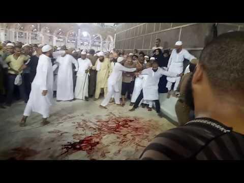 Accident happened in haram shareef at Hajr E Aswad