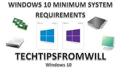 Windows 10 Minimum System Requirements