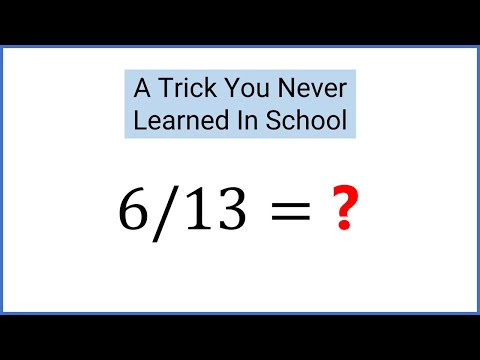 6/13 = ? Divide By 13 In Your Head - Mental Math Trick