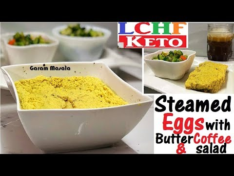 lchf-/-keto-break-fast-menu-'steamed-eggs'-with-butter-coffee-&-mixed-vegetable-salad
