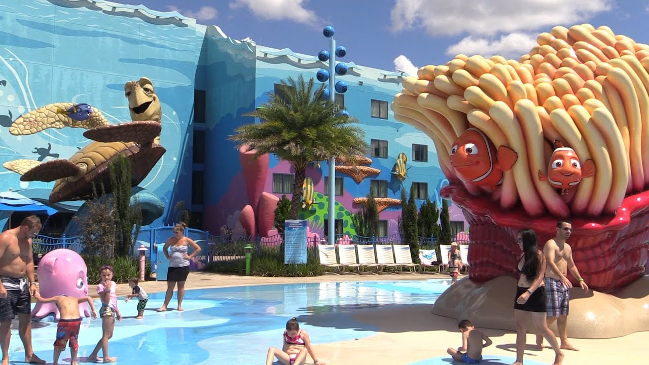 Swimming At The Art Of Animation Finding Nemo Big Blue Pool Youtube