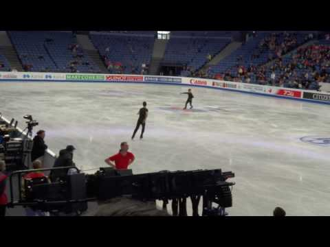 Nathan Chen and Jason Brown - 2017 Practice Worlds - Day 1