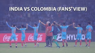 48,184 fans cheering for india against colombia in fifa u-17 world cup 2017