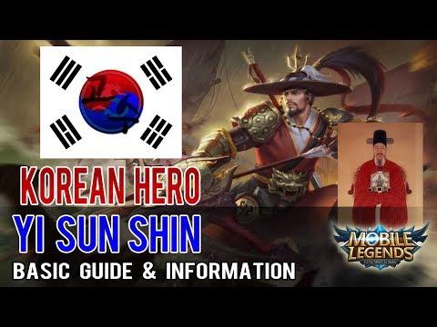 Korean Hero Yi Sun Shin(이순신) Basic Guide - Mobile legends