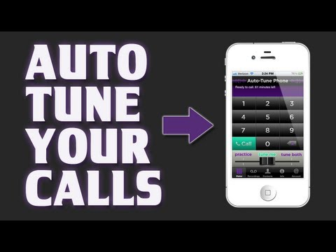 Best iPhone Apps - Auto-Tune Phone - Make Phone Calls with AutoTune on your Voice!!
