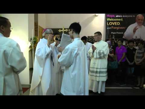 Blessing of Holy Door, Church of Divine Mercy, Singapore, 8 December 2015