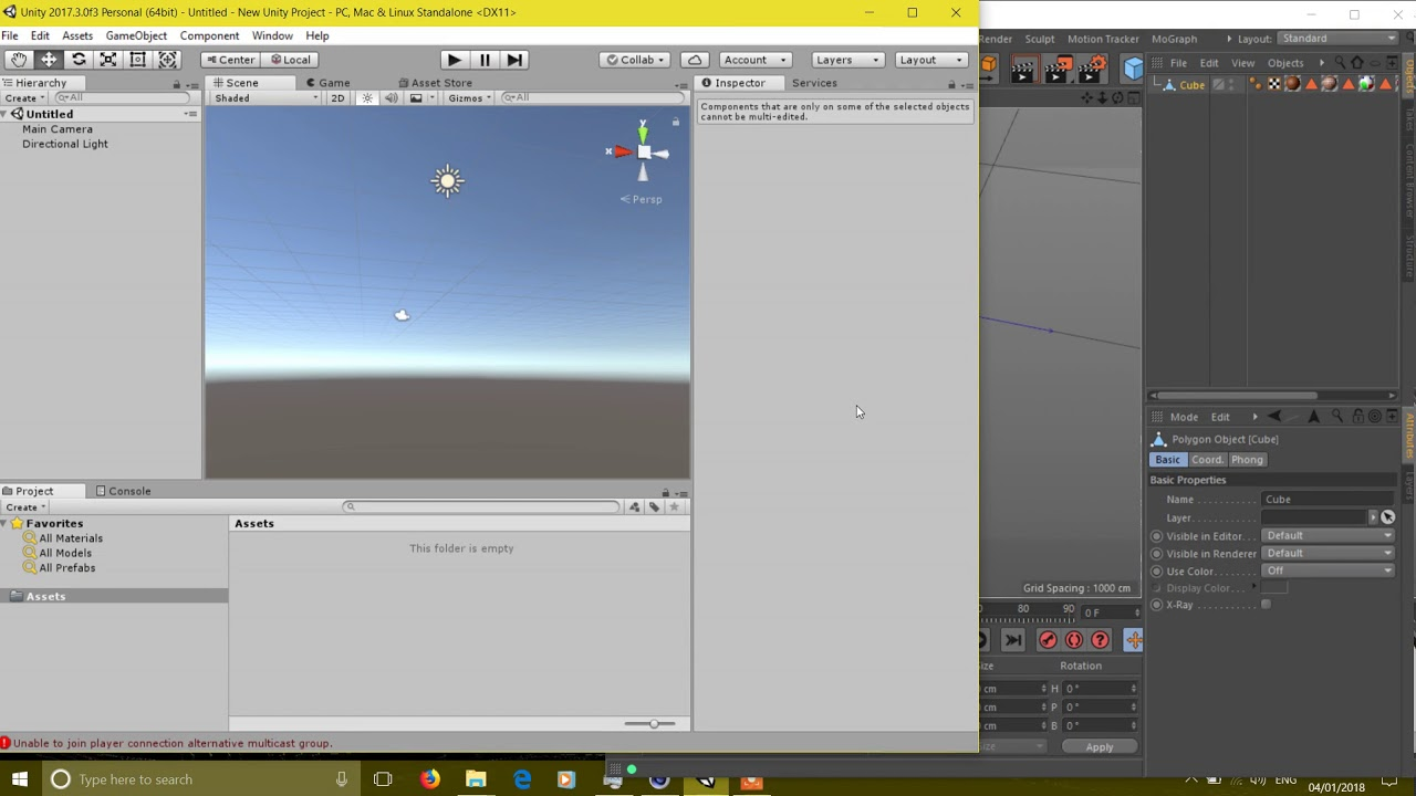 Cinema 4D Fbx file Export to unity   Fixing error of material