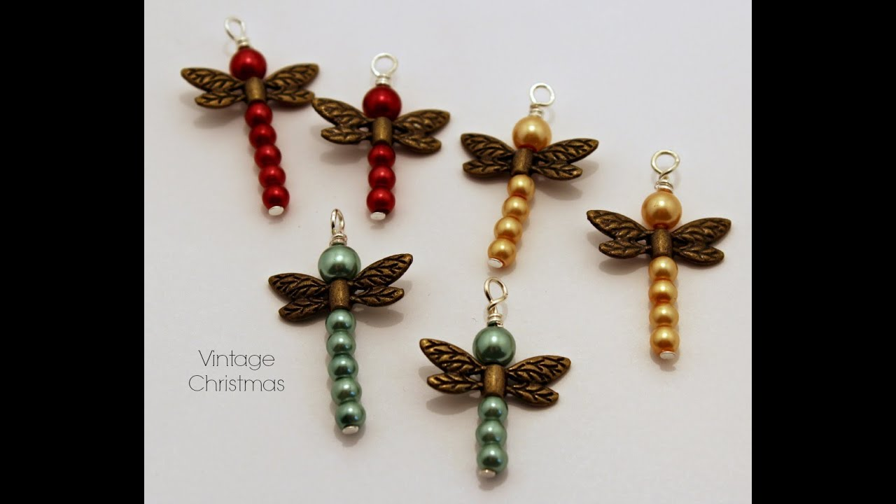 Dragonfly Planner Tutorial Beaded Dragonfly Pendant Charms Youtube