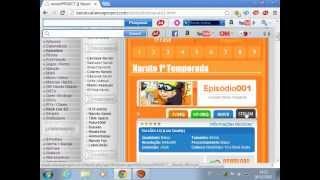 Conhecendo o site do Naruto Project  e Baixando um episodio.