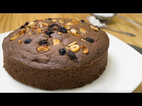 pressure-cooker-eggless-chocolate-nuts-cake-recipe-|-eggless-baking-without-oven