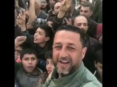 doğu guta çocuklar suriye ordusuna destek çığlıkları suriye birdir