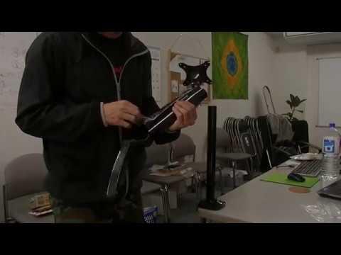 locktek社さんのモニターアームflexmount-m17を組み立て設置してみました
