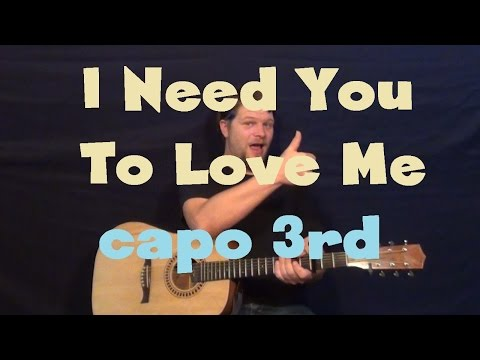I Need You to Love Me (BarlowGirl) Easy Guitar Lesson How to Play Tutorial