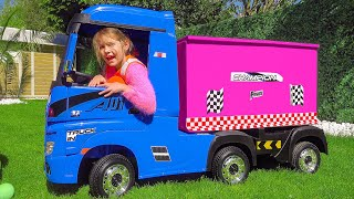Katy and her delivery truck